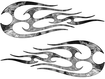 New School Tribal Flame Sticker / Decal Kit in Gray Inferno