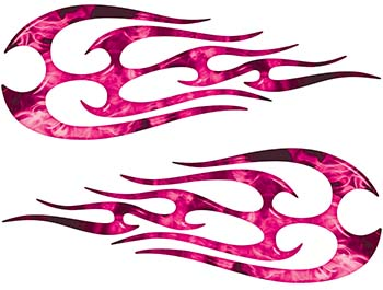 New School Tribal Flame Sticker / Decal Kit in Pink Inferno