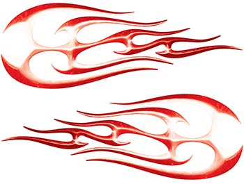 New School Tribal Flame Sticker / Decal Kit in Red
