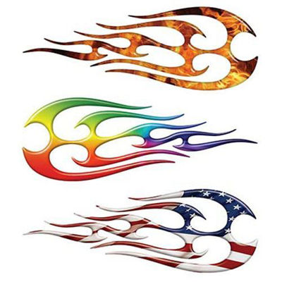 Tribal Flame Decals for Motorcycle Tank