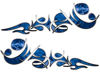 Reversed Tribal Flame Decal Kit in Blue Camouflage