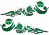 Reversed Tribal Flame Decal Kit in Green Camouflage