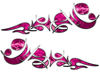 Reversed Tribal Flame Decal Kit in Pink Camouflage