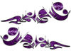 Reversed Tribal Flame Decal Kit in Purple Camouflage