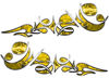 Reversed Tribal Flame Decal Kit in Yellow Camouflage