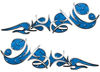 Reversed Tribal Flame Decal Kit in Blue Diamond Plate