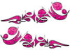 Reversed Tribal Flame Decal Kit in Pink Diamond Plate