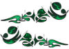 Reversed Tribal Flame Decal Kit in Green Inferno