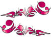Reversed Tribal Flame Decal Kit in Pink