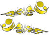 Reversed Tribal Flame Decal Kit in Yellow