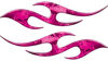 Simple Tribal Style Flame Graphics with Silver Outline in Pink Camouflage