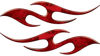 Simple Tribal Style Flame Graphics with Silver Outline in Red Camouflage