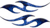 Simple Tribal Style Flame Graphics with Silver Outline in Blue Inferno