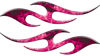 Simple Tribal Style Flame Graphics with Silver Outline in Pink Inferno