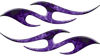 Simple Tribal Style Flame Graphics with Silver Outline in Purple Inferno