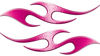 Simple Tribal Style Flame Graphics with Silver Outline in Pink