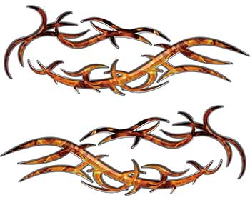 Split Tribal Style Flame Graphics in Inferno