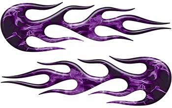 Street Rod Classic Car Style Flame Graphics in Purple Inferno