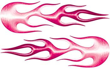 Street Rod Classic Car Style Flame Graphics in Pink