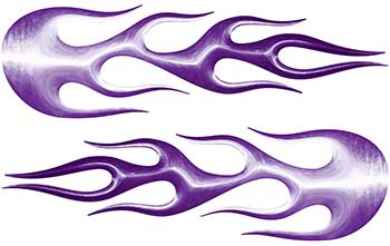 Street Rod Classic Car Style Flame Graphics in Purple