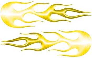 Street Rod Classic Car Style Flame Graphics in Yellow