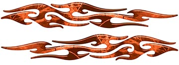 Tribal Style Flame Graphics in Orange Camo