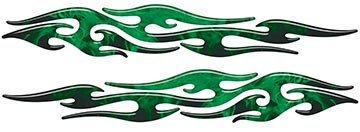 Tribal Style Flame Graphics in Inferno Green