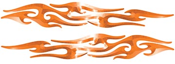 Tribal Style Flame Graphics in Orange