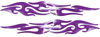 Tribal Style Flame Graphics in Purple