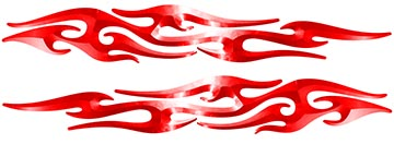 Tribal Style Flame Graphics in Red