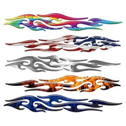 Tribal Flame Decals for Motorcycle, Trucks, Boats or Any Vehicle