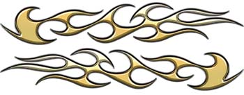 Traditional Style Flame Graphics in Gold