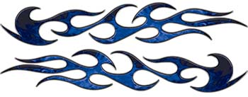 Traditional Style Flame Graphics in Inferno Blue Flames
