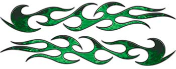 Traditional Style Flame Graphics in Inferno Green Flames