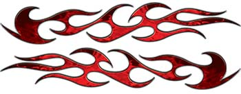 Traditional Style Flame Graphics in Inferno Red Flames