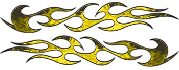 Traditional Style Flame Graphics in Inferno Yellow Flames