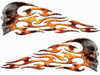 Tribal Style Evil Skull Flame Graphics with Inferno Flames