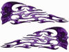 Tribal Style Evil Skull Flame Graphics with Purple Inferno Flames