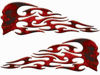 Tribal Style Evil Skull Flame Graphics with Red Inferno Flames