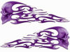 Tribal Style Evil Skull Flame Graphics in Purple