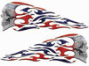 Tribal Style Evil Skull Flame Graphics with Rebel Confederate Flag