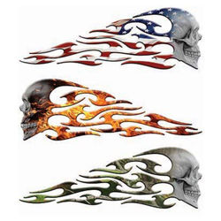 Tribal Flames Evil Skull Decals