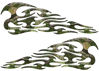 Tribal Style Flame Decals in Camo