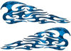 Tribal Style Flame Decals in Blue Camouflage