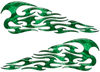 Tribal Style Flame Decals in Green Camouflage
