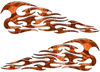 Tribal Style Flame Decals in Orange Camouflage