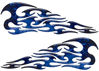 Tribal Style Flame Graphics in Inferno Blue