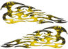 Tribal Style Flame Graphics in Inferno Yellow