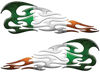 Tribal Style Flame Decals with Irish Flag