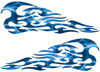 Tribal Style Flame Decals in Lightning Blue